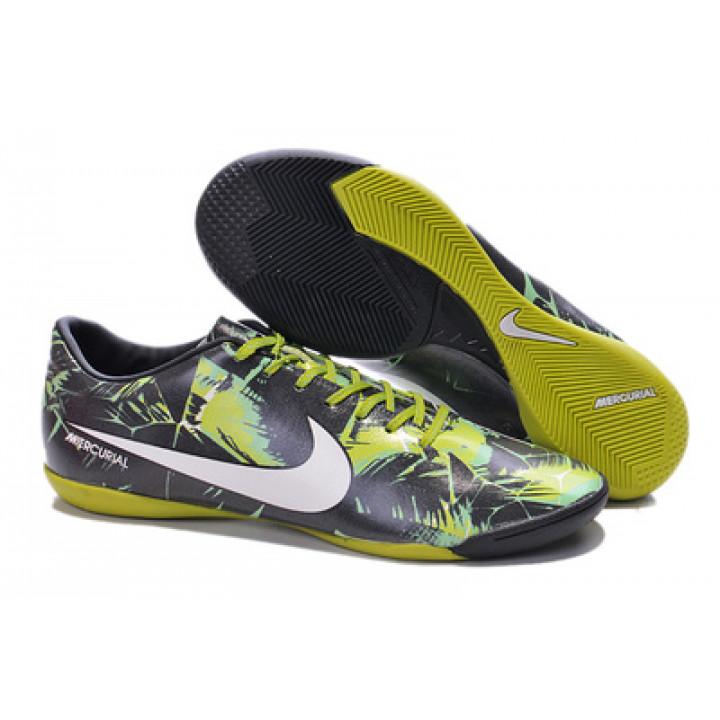 Футзалки Nike mercurial, черный с желтым и белым